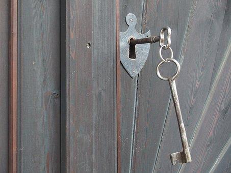 Key, Press Home, Wooden Gate, Old, Goal, Input, Wood