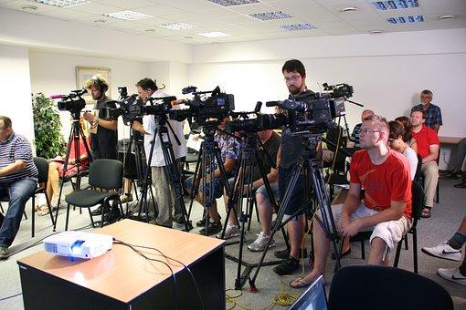 Press Conference, Journalist, Media, Tv, Radio