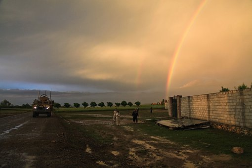 Rainbow, Double Rainbow, Tank, Military, Us Army