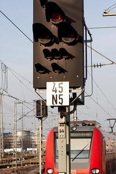 Signal, Stop, Train, S Bahn, Driving A, Red, Loco