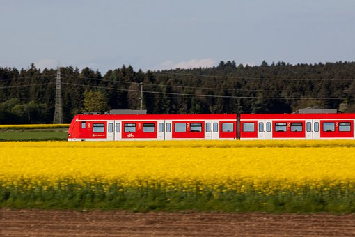 Traffic, Transport, S Bahn, Red, Train, Mobile, Travel