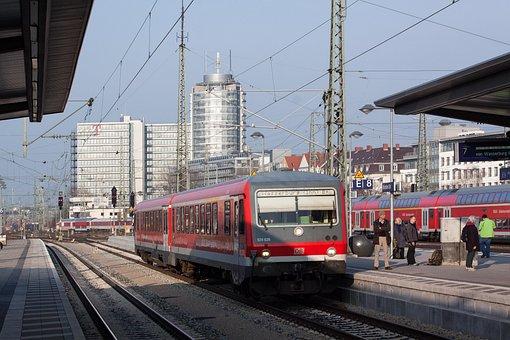Railway Station, S Bahn, Red, Tracks, Track, Platform