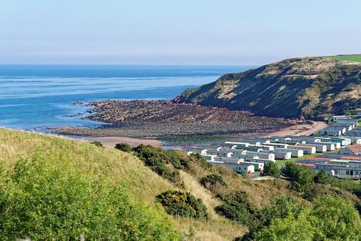 Seaview, Scenery, Horizon, Sea, Caravan Park, Chalets