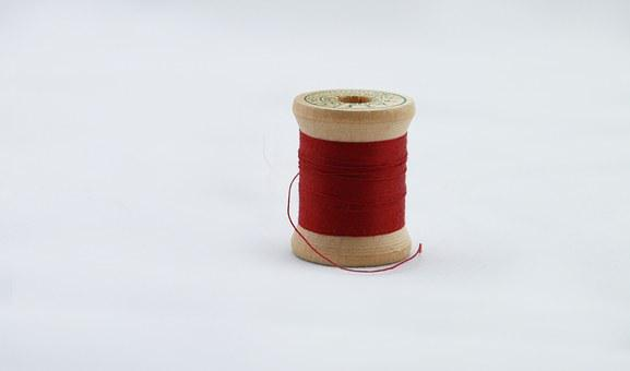 Red Thread, Red, Thread, Sew, Sewing