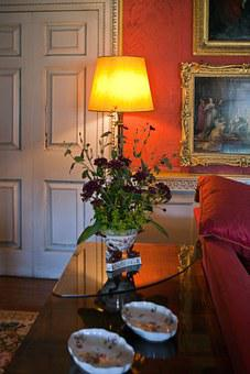 Sitting Room, Consul Table, Lamp, Norfolk