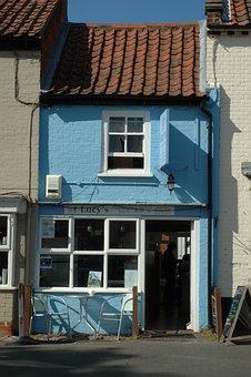 Music, Small, England, Norfolk, Blue, Village Shop