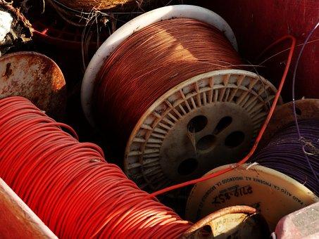 Wire, Spool, Coil, Copper, Equipment, Cable