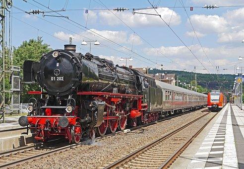 Steam Locomotive, Steam Train, Silberlinge, Plan Steam