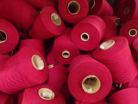 Spools Pink, Round, Yarn, String, Avoca, Irish