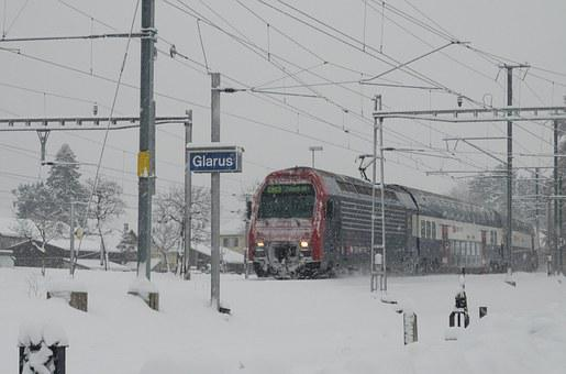 Train, Sbb, S Bahn, Winter, Swiss Federal Railways