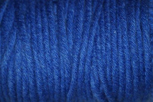 Blue, Wool, Structure, Texture, Woollen, Cat's Cradle