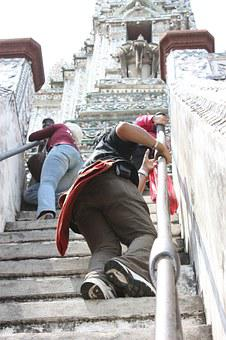 The Stair, Temple, Thailand, Bangkok, A Challenging