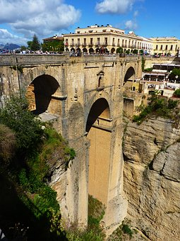 Ronda, Bridge, Valley, Andalusia