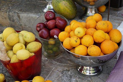 Oranges, Juice, Cafe, Sell, Vitamins, Citrus, Fruit