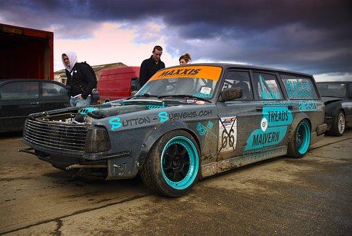 Volvo, Drift, Car, Norfolk Arena, Power, Tuning