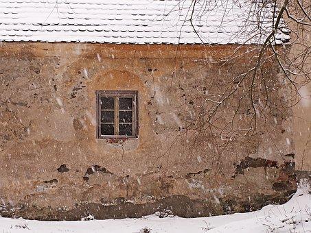 Winter, Snow, Snowing, Wall, Snowy, Flakes, Solitude