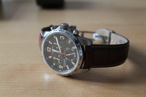 Watch, Chronograph, Quartz, Steel, Gents