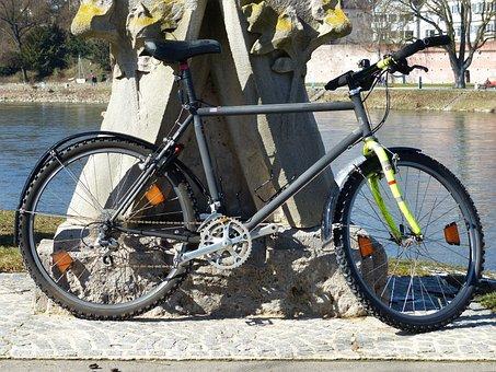 Bike, Mountain Bike, Lean On, Wheel, Wheels, Old