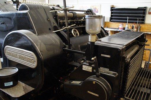 Printing, Machine, Printing Machine, Workplace, Press