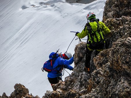 Rock Climbing, Snow, Ice, Mountaineers, Alino, Alps