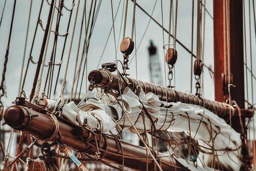 Boat, Sailing Boat, Mast, Port, Sail, Ropes