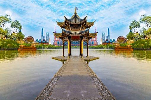 Beijing, China, Asia, Architecture, Fan, Wall, Building