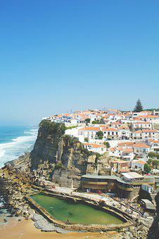 Portugal, Azenhas Do Mar, Sea, Sintra, Cliff, Scenic