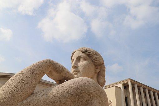 Sculpture, Statue, Pierre's Size, Color Sand, Figure