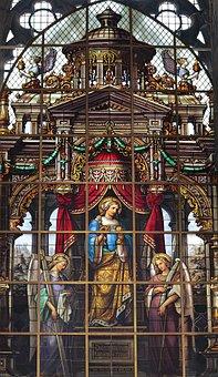 Church Window, Holy, Church, Stained Glass, Faith