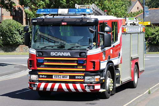 Fire Engine, Fire Tender, Firefighting, Truck