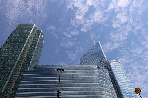 Architecture, Skyscraper, Office Building, Glass, Steel