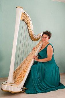 Harp, Harpist, Musician, Music, Concert, Musicians