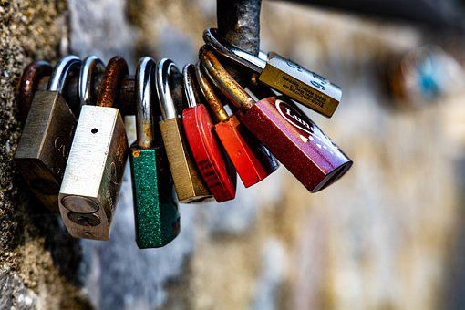 Castles, Love, Love Symbol, Padlock, Bridge, Heart