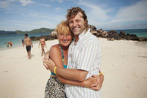 Happy, Couple, Love, Holiday, Adventure, Beach, Heart