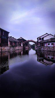 Old Town, River, The Old Town, Water, Ishibashi