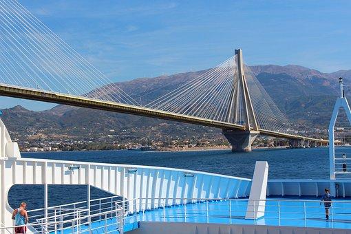 Bridge, Greece, Rio-andirrio Bridge, Landscape