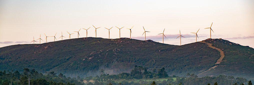 Spain, Galicia, The Windmills, Power Station, Landscape