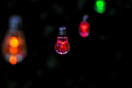 Lichterkette, Light Bulbs, Colorful, Bright, Lighting