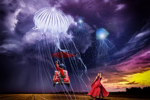 Composing, Fantasy, Photomontage, Mysterious, Surreal