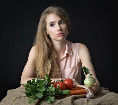 Girl, Vegetables, Health, Diet, Nutrition, Vitamins
