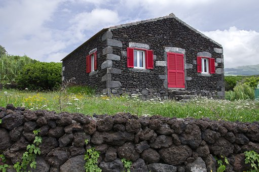 Portugal, Azores, Islands, Faial, Traditional House