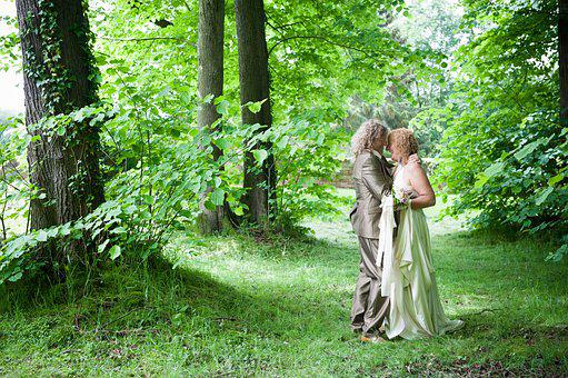 Marry, Love, Trees, Woodland, Couple, Marriage, Romance