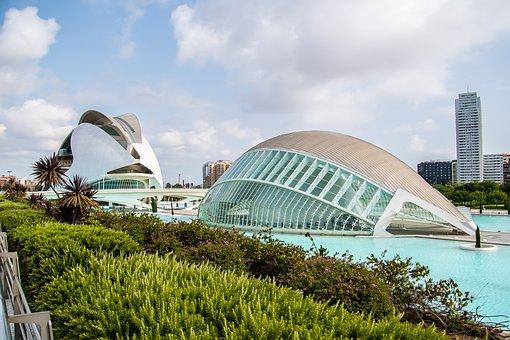 Valencia, City Of Arts, Travel, Art, Color, Sculpture