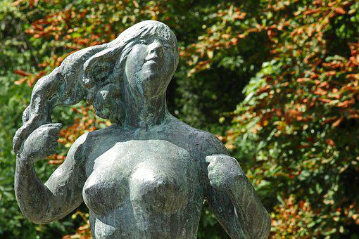 Sculpture, Figure, Statue, Woman, Stone, Stone Figure