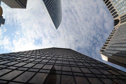 Skyscraper, Office Buildings, Architecture, Modern