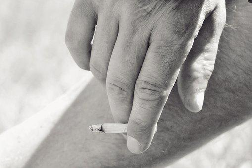 Hand, Man, Cigarette, Smoking, Finger, Black And White