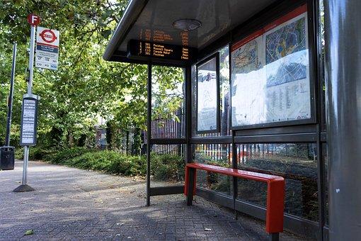 Bus Stop, London, Station, City, Transportation, Public