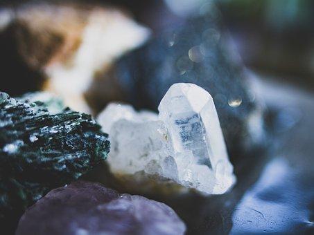 Crystals, Stones, Mineral Of, Assortment, Nature