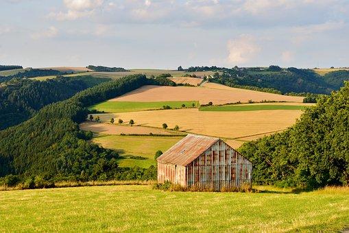 Landscape, Barn, Countryside, Nature, Summer, Vista