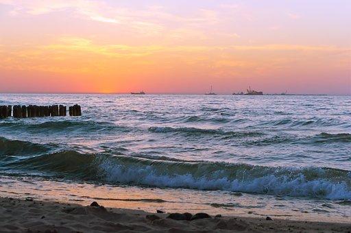 Sunset, Sea, Beach, Ocean, Sunrise, Nature, Water